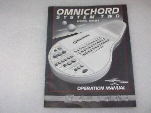 Original Suzuki Omnichord Model OM-84 System 2 Instruction Operation Manual