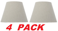 Hampton Bay Mix & Match Oatmeal Round Accent Lamp Shade (4 PACK) 10 x 7.5-in