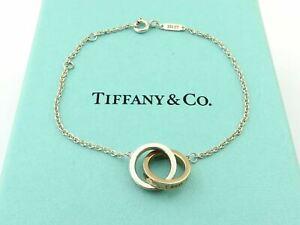 TIFFANY & CO Sterling Silver Rubedo Metal 1837 Interlocking Circles Bracelet