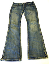 Maurices Womens Size 1/2 Distressed Jenna Boot Cut Jeans Fair Condition