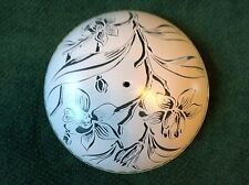 ART DECO XLARGE CREAM OR PINK SHADE OR GLOBE LILY LARGE FLOWER DESIGN 16""