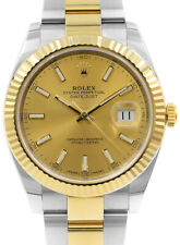 Rolex Datejust 41 18k Yellow Gold/Steel Oyster Bracelet Watch Box/Papers 126333