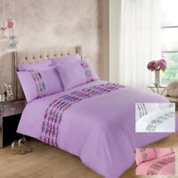 HANNAH Luxuries Duvet Covers Quilt Cover With Pillow Case Bedding Sets All Sizes