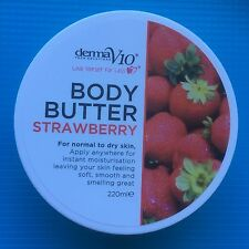 DERMA V10 STRAWBERRY BODY BUTTER 220ML