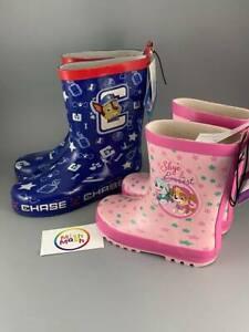kids boys girls PAW PATROL wellys wellies wellington boots Rain puddles splash
