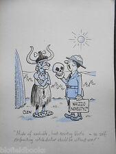 "CLIFFORD C LEWIS ""CLEW"" Original Pen & Ink Cartoon - Witch Doctor/Salesman #126"