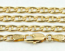 """16-24"""" 3.3mm 10k Yellow Flat Anchor Link Chain, (NEW solid Italian necklace)2510"""