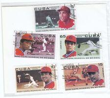 CUBA - Bustina 5 francobolli serie SPORT BASEBALL