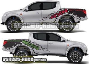 Mitsubishi L200 053 grunge mud splatter stickers decals graphics 4x4 off-road
