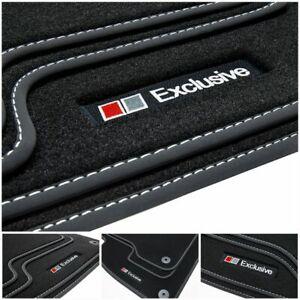 Exclusive Line Fußmatten für Audi Q5 8R Quattro S-Line Bj. 2008-2016
