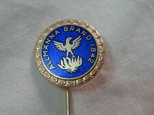 allmanna brand 1842 enamel & gold tone sweden pin sporrong & co stockholm  vtg