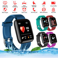 116 PLUS TPU Smart Bracelet D13 Heart Rate Blood Pressure Waterproof Smart Watch