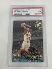 1995-96 Topps Stadium Club MICHAEL JORDAN #1 PSA 9 MINT Chicago Bulls HOF