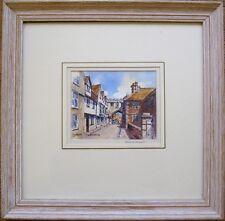 Barry Peckham ROI SEA ARSMA The North Gate Salisbury signed original watercolour