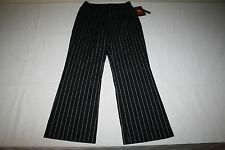 NEW Classics By Bill Blass Womens Sz 8 Black Striped Stretch Dress Pants NICE