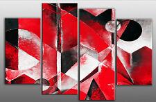 GRANDE Rosso Grigio Pittura Astratta SPLIT foto su tela
