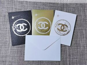 New Chanel Greetings cards Set of 3pcs 2020