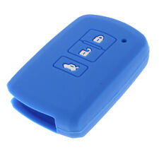 Silicone 3 Button Case Cover For Toyota Camry RAV4 Remote Smart Key Blue