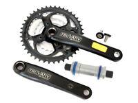 SRAM Truvativ X-flow Bike PowerSpline Crankset 42-34-24 8/9S 175mm
