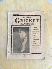 THE 1905 CRICKET HANDBOOK - John Leng & Co Ltd