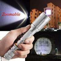 Zoomable 3000 Lumens XML T6 LED Flashlight Focus Torch Aluminum Lamp 18650