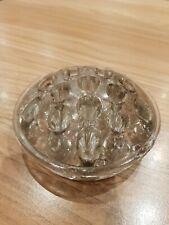 Large Vintage 16 Hole Glass Flower Frog #1