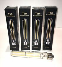 LED T10 Filament Bulb; 4pk; Dimmable; 6W