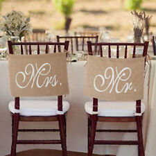 Mr and Mrs Chair Sign Wedding Signs Rustic Wedding Banners Wedding Chair Sign