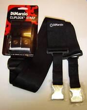 Dimarzio SANGLE CLIPLOCK Noir avec extrémités en métal, fits ibanez Steve Vai Jem RG etc