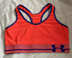 Under Armour Sports Bra Pink Workout Exercise Small