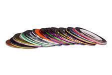 37 Rollen Nail Art Nagel Zierstreifen selbstklebend Striping Tape Streifen
