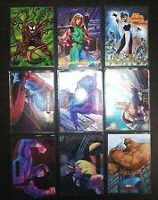 1993-94 Marvel Masterpieces Foil Power Blast Set Cards LOT X9 Mint PSA Ready