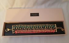 Victoria's Secret Gold Multi Strand Cord Wrapped Chain Bracelet - NIB