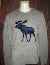 MENS ABERCROMBIE & FITCH MOOSE GRAY SWEATER SIZE L