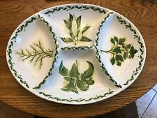Botanical Herbs Divided in 4 Appetizer Serving Tray Tabletops Unlimited Platter