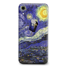 Skins Decal Wrap for Apple iPhone XR - Tardis Starry Night