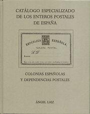 Catálogo Especializado  Enteros Postales España  Obra de Ángel Laiz    NUEVO
