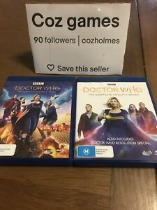 Dr Who Complete Seasons 11 And 12 Australian Release Blu Rays Eleven And Twelve
