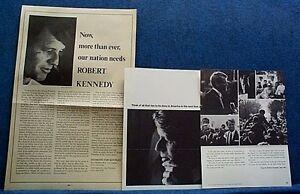 1968 RFK Robert F Kennedy For President- (2) Calif Items Gov Maddox - Castro ++