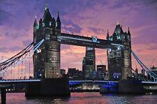 LONDON BRIDGE CITYSCAPE POSTER 24x36 HI RES