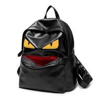 2016 NEW Womens Mens Evil Eye Monster PU Leather Backpack Shoulder Bag Bookbag