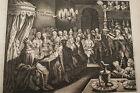 GRAVURE SUR CUIVRE BALTHASAR CONDAMNE-BIBLE 1670 LEMAISTRE DE SACY (B152)