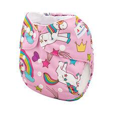 ALVA Baby Girl Washable Reusable Washable Pocket Diaper Nappy +1Insert