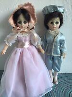"Vintage Madame Alexander Pinkie And Blue Boy Dolls. 12"" Tall"