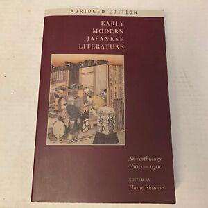 Early Modern Japanese Literature Anthology 1600-1900 VG++