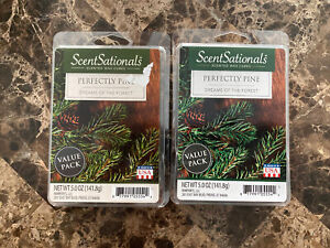 NEW SCENTSATIONALS PERFECTLY PINE WAX CUBE MELTS - 5 OZ. - LOT OF 2 PACKAGES