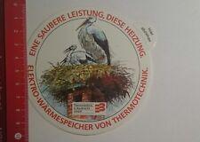 Aufkleber/Sticker: Elektro Wärmespeicher von Thermotechnik (0811164)