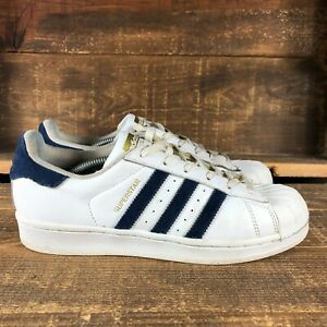 Adidas Womens Superstar AC7163 Blue Low Top Suede Stripes Sneakers Shoes Size 7