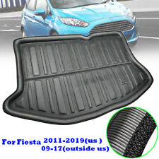 Rear Trunk Mat Cargo Boot Liner Floor Carpet Fit For Ford Fiesta 09-17 Hatchback