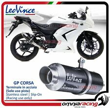 Leovince GP CORSA Terminale scarico carbonio Kawasaki Ninja 250 R 2008>2012